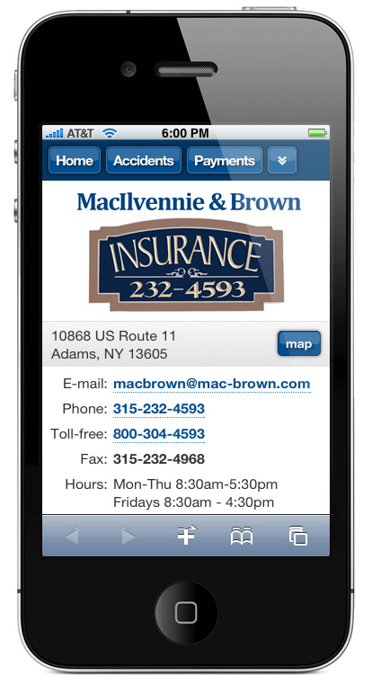 m.mac-brown.com website preview